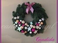 wianek bożonarodzeniowy, wianek z jodły, dekoracje bożonarodzeniowe, dekoracje świąteczne