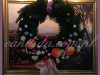 wianek bożonarodzeniowy, dekoracje bożonarodzeniowe, dekoracje świąteczne