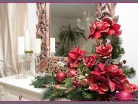 duża kompozycja świąteczna, dekoracje bożonarodzeniowe, dekoracje świąteczne