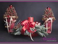 zestaw świąteczny, choinki z szyszek, stroik bożonarodzeniowy, dekoracje bożonarodzeniowe, dekoracje świąteczne