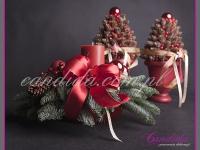 choinki z szyszek, stroik bożonarodzeniowy, dekoracje bożonarodzeniowe, dekoracje świąteczne