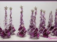 choinki z drutu, małe dekoracje świąteczne do restauracji, dekoracje bożonarodzeniowe, dekoracje świąteczne