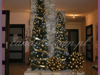 choinki świąteczne, dekoracje w restauracji, dekoracje bożonarodzeniowe, dekoracje świąteczne