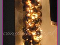 podświetlana dekoracja świąteczna w szklanej tubie, dekoracje bożonarodzeniowe, dekoracje świąteczne