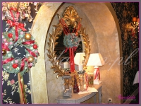 wianki świąteczne, dekoracje w restauracji, dekoracje bożonarodzeniowe, dekoracje świąteczne