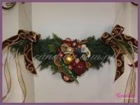 dekoracja świąteczna kominka, dekoracje bożonarodzeniowe, dekoracje świąteczne