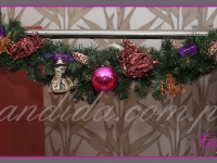 girlandy świąteczne, dekoracje świąteczne balustrady, dekoracje bożonarodzeniowe, dekoracje świąteczne