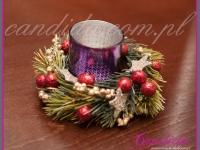 dekoracja świąteczna stołu w restauracji, tealight świąteczny, dekoracje bożonarodzeniowe, dekoracje świąteczne