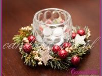 dekoracja świąteczna w restauracji, tealight świąteczny, dekoracje bożonarodzeniowe, dekoracje świąteczne