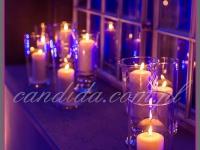 lampiony ze świecą nadają odpowiedni klimat imprezie, dekoracje eventowe, kwiaty dla firm