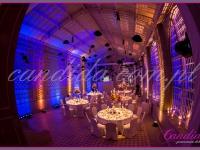 widok sali jadalnej i dekoracji stołów, dekoracje eventowe, kwiaty dla firm