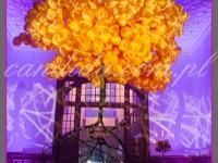 """drzewo z balonów tzw. """"floating tree""""dekoracje eventowe, kwiaty dla firm"""
