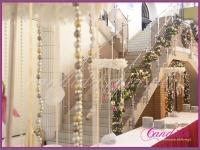 dekoracje bufetu, perły wianki z piór, dekoracje eventowe, dekoracje bożonarodzeniowe dla PGNIG
