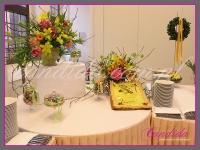 dekoracja wielkanocna bufetu, dekoracje eventowe, dekoracje wielkanocne dla PGNIG