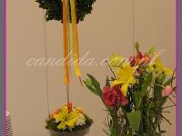 wielkanocne dekoracje bufetu, dekoracje eventowe, dekoracje wielkanocne dla PGNIG
