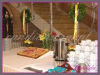 wianki wielkanocne, dekoracja wielkanocna bufetu, dekoracje eventowe, dekoracje wielkanocne dla PGNIG
