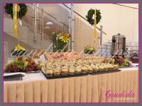 dekoracje wielkanocne bufetu, dekoracje eventowe, dekoracje wielkanocne dla PGNIG