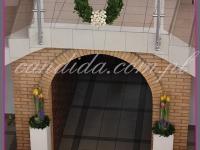 dekoracje wielkanocne, wianek wielkanocny, dekoracja wejścia, dekoracje eventowe, dekoracje wielkanocne dla PGNIG