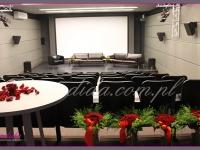 bukiety i dekoracje, dekoracje eventowe, kwiaty na konferencję prasową BZ WBK z udziałem Kevin Spacey