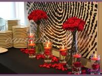 dekoracja stołu cateringowego, dekoracje eventowe, kwiaty na konferencję prasową BZ WBK z udziałem Kevin Spacey