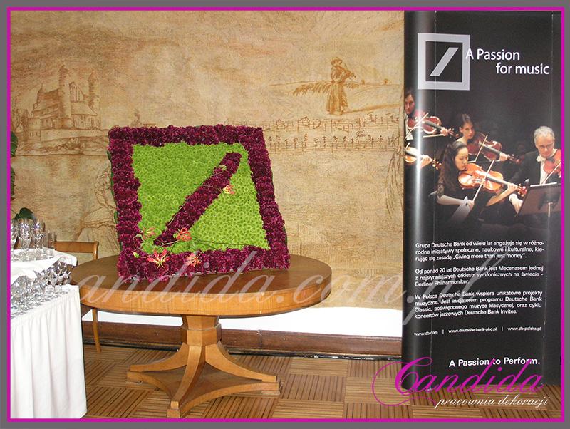 Kwiatowe logo dla Deutsche Bank, Gala w Filharmonii Narodowej, Warszawa.