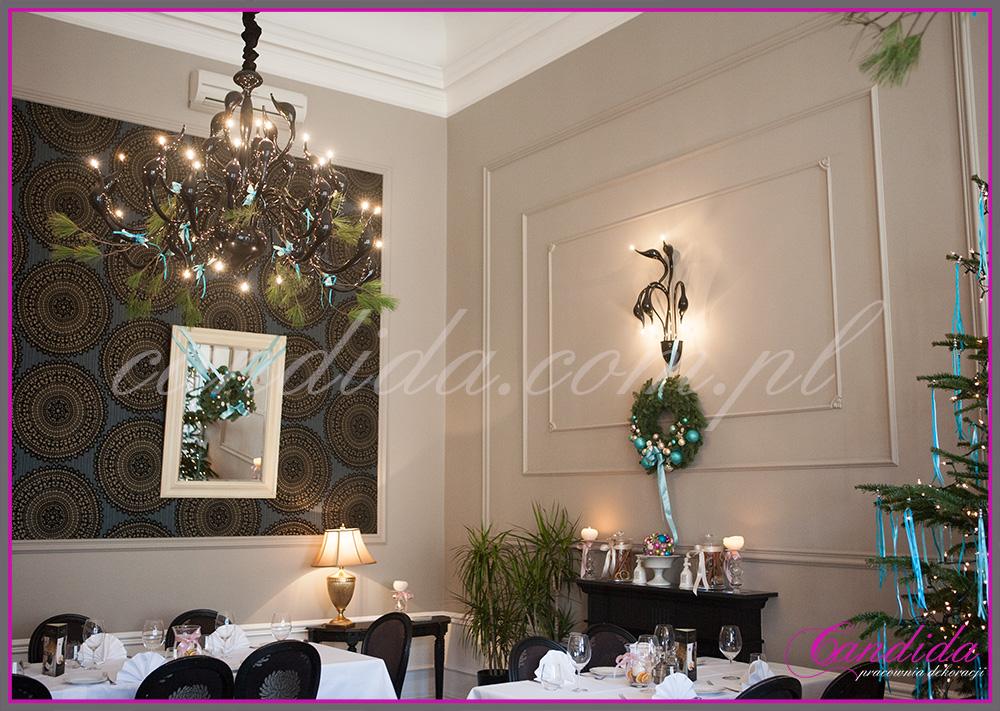 dekoracje bożonarodzeniowe restauracji