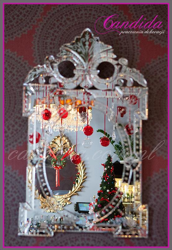 dekoracje świąteczne w restauracji Delicja Polska