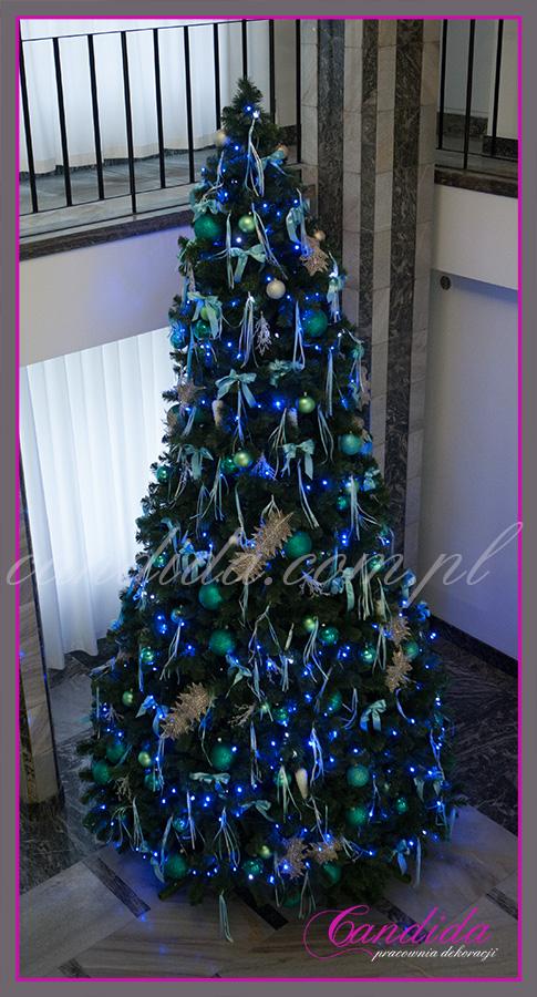 dekoracja choinki sztucznej wysokość 5 metrów